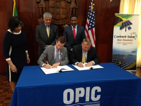 WRB Enterprises Signs $47 Million OPIC Agreement to Build 20 Megawatt Solar Photovoltaic Facility in Clarendon, Jamaica